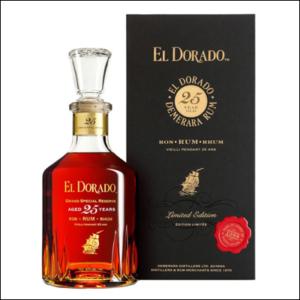 Ron El Dorado 25 Años - La Bodega Roja. Bebidas Premium.